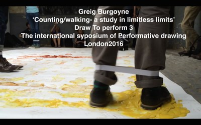 'Counting/walking/measuring' at Draw To Perform 3 International Symposium for Drawing Performance, London